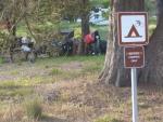 Camping nur für Radfahrer! Daumen hoch! :)