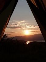 Ausblick aus dem Zelt :)